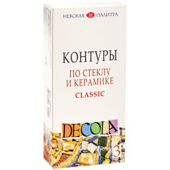 Сет контури за стакло и керамика Decola - 3 x 18 ml