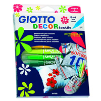 Фломастери за текстил GIOTTO DECOR textile - 12 бои