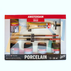 Сет бои за порцелан за почетници Amsterdam porcelain deco 5x16 ml